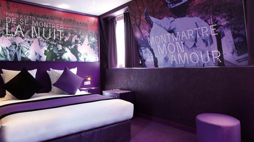 un h tel pour amoureux paris pr cis ment montmartre sexyhotelsparis. Black Bedroom Furniture Sets. Home Design Ideas